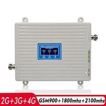 2G 3G 4G Tri Band Signaal Booster Gsm 900 + Dcs/Lte 1800 + Wcdma/ umts 2100 Mobiele Telefoon Signaal Repeater 900 1800 2100 Signaal Versterker
