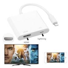 8-контактный цифровой av-адаптер для Lightning-HDMI кабель для Apple iPhone X 8 7 iPad HDMI Кабель-адаптер аудио-видео адаптер