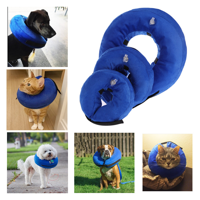 Inflatable Pet Cat Dog Collar Neck Protective Wound Healing Collar Pet Anti-bite Protection Collar Dog Cat Health Accessories