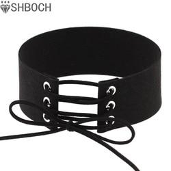 Lace up choker black velvet choker necklace women gothic chokers 2016 neck boho jewelry harajuku big.jpg 250x250
