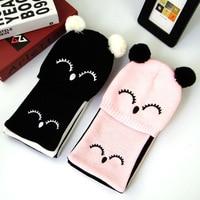 Super Soft Inverno Del Bambino Del Crochet Cappello Sciarpa Set Caldo Delle Ragazze Del Bambino Beanie Knit Bambini Skull Scarf Set 1-2Y
