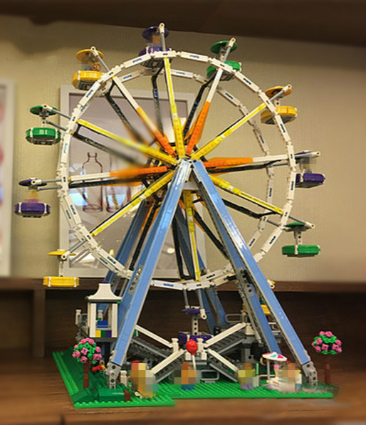 Hot Sale Model DIY 3D Ferris Wheel Truck Building Bricks Blocks Toy Boy Game Model Car Gift Compatible with Lepins Figures Toys fashionable parrot and floral pattern square shape flax pillowcase without pillow inner