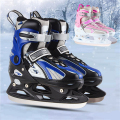 [ Ice Skate Shoes] Inline Ice Skates Shoes for Ice Skating, 4 Size Adjustable, for Adult Kid Children Man Woman, Fun in Winter