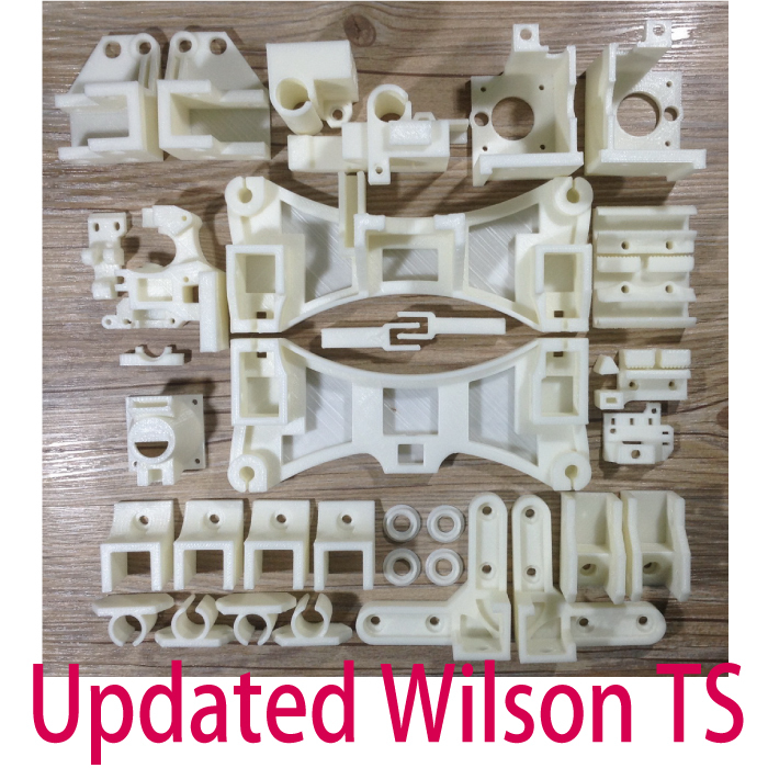 Updated, Reprap Wilson TS 3D Printer Updated Printed Plastic Part Premium KIT PLA  Part Free Shipping цена и фото