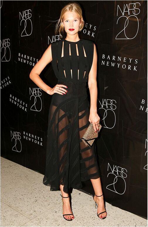 Новейшее HL знаменитостей черное белое длинное облегающее платье без рукавов длинное вечернее благородное платье - Цвет: Черный