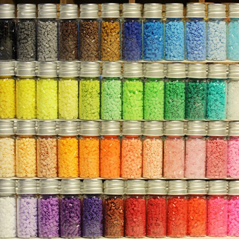 750pcs/bottle 2.6mm Hama Beads 50 Colors For Choose Kids Education Diy Toys 100% Quality Guarantee New PUPUKOU Beads