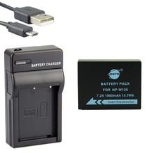 DSTE NP-W126 np-w126 NP-W126S Li-ion Camera Battery With USB Charger for Fuji HS50 HS35 HS33 HS30EXR XA1 XE1 X-Pro1 XM1 X-T10