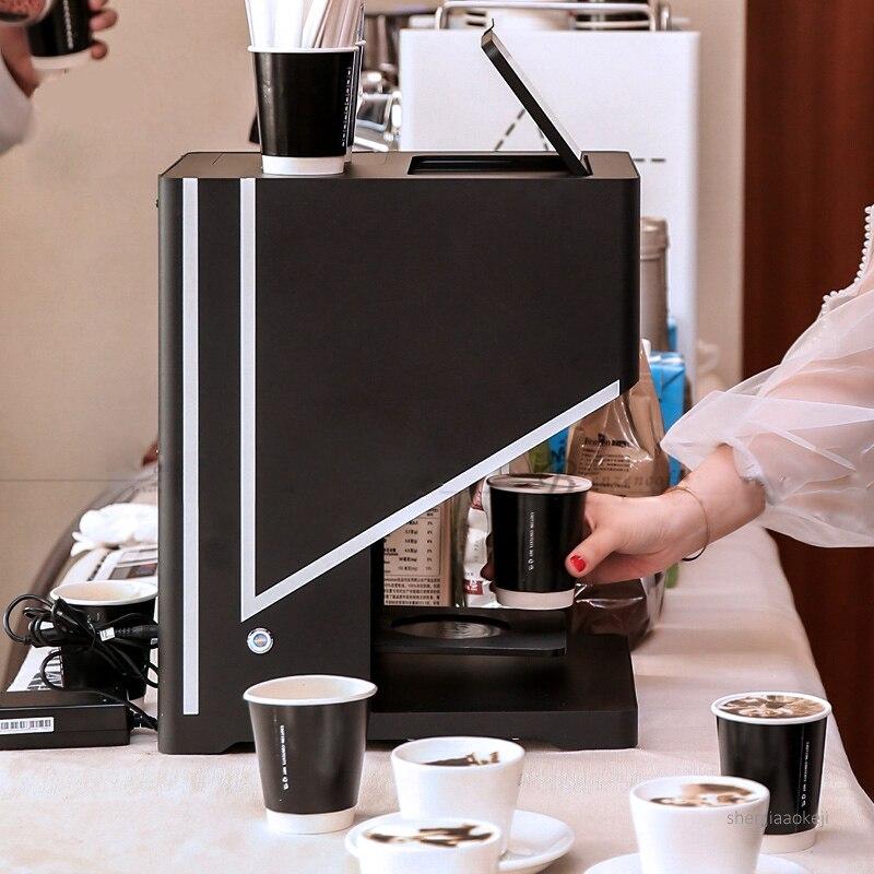 Máquina automática de dibujo de café con leche, máquina táctil inteligente, tapa de leche, espuma, leche, té, patrón de flores, equipo de impresora 220V - 2
