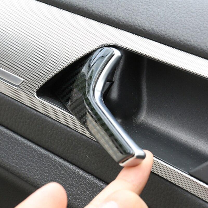 Para Volkswagen Golf 7 Golf 7.5 Car Styling Acessórios Tampa Alça Tigela Porta Interior Guarnição Quadro Adesivo Interior - 2