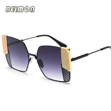 Belmon Fashion Square Sunglasses Women Men Brand Sun Glasses For Ladies Shades Oculos de sol UV400 Female Male Sunglass RS688