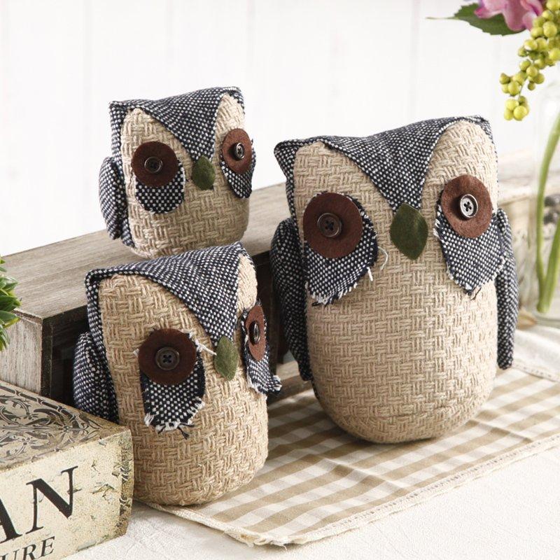 Aliexpress.com : Buy 3PCS/LOT Cloth Art Jute Owl Figurine