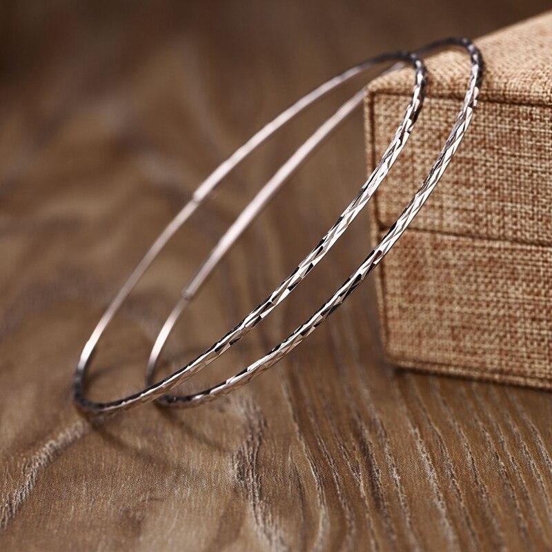 925 Sterling Silber 2 Cm-6,5 Cm Große Silber Hoop übertreibung Ohrringe Elegante Temperament Mode Design Hoop Ohrringe Für Frauen