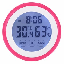 New Indoor Temperature Hygrometer Weather Station font b Digital b font Backlight Touch Screen Time font