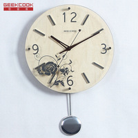Fashion Hanging Wall Clock Toughened Glass Modern Design 3D Novelty Silent Europe Style Design Table Clocks