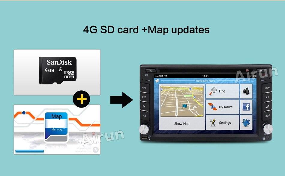 Big GMD GPS สเตอริโอวิดีโอฟรีแผนที่กล้องรถมัลติมีเดีย