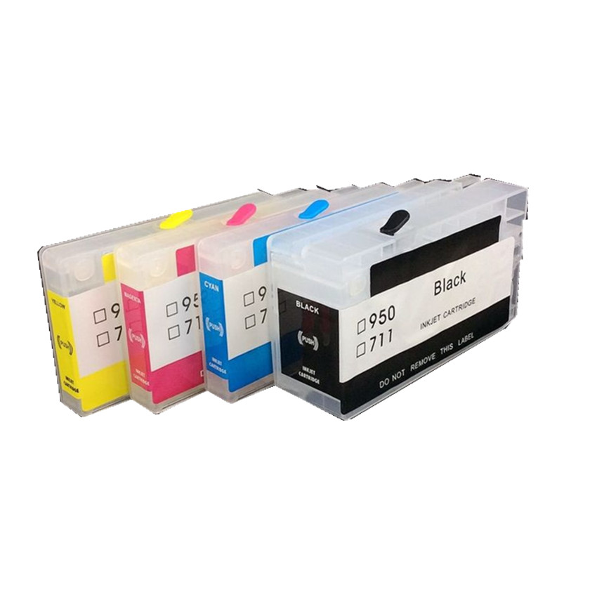 BLOOM compatible for hp 711 711xl Refillable ink Cartridge with chip empty cartridge for HP Designjet