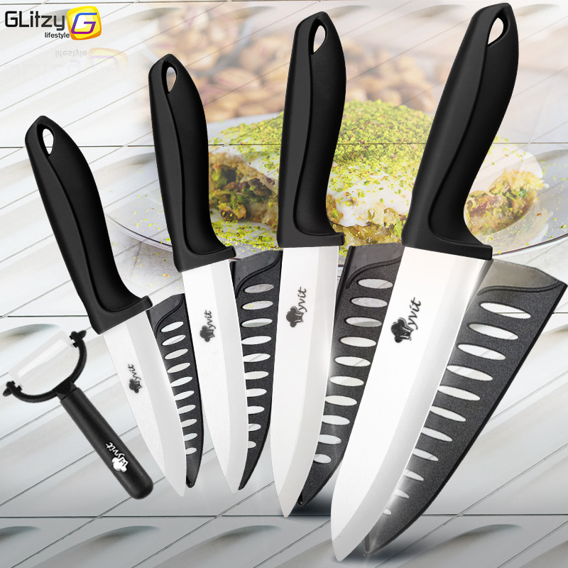 Ceramic Knife 3 4 5 6 inch Kitchen Chef Utility Slicer Paring Ceramic Knives Peeler Set White Zirconia Blade Cooking Cutter Tool|Kitchen Knives|   - AliExpress