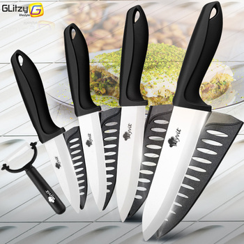 цена на Ceramic Knife 3 4 5 6 inch Kitchen Chef Utility Slicer Paring Ceramic Knives Peeler Set White Zirconia Blade Cooking Cutter Tool