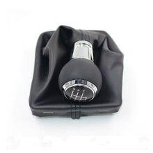 Para audi a3 s3 8p s-line sportback 5 engrenagem 6 velocidade manual mt botão de câmbio do carro com botão de couro estilo do carro