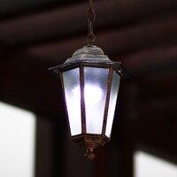 European chandelier outdoor balcony garden lights aisle bronze restaurant chandelier