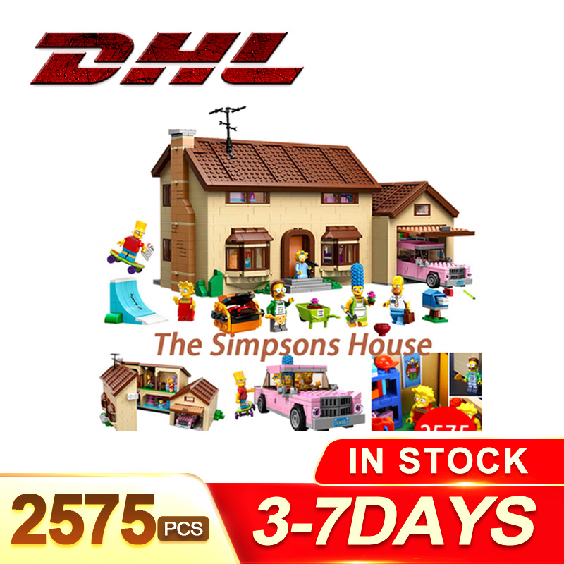 DHL LEPIN 16005 2575Pcs The Simpsons House Model Compatible 71006 Building Block Bricks Kids Gfits for Christmas New year цена