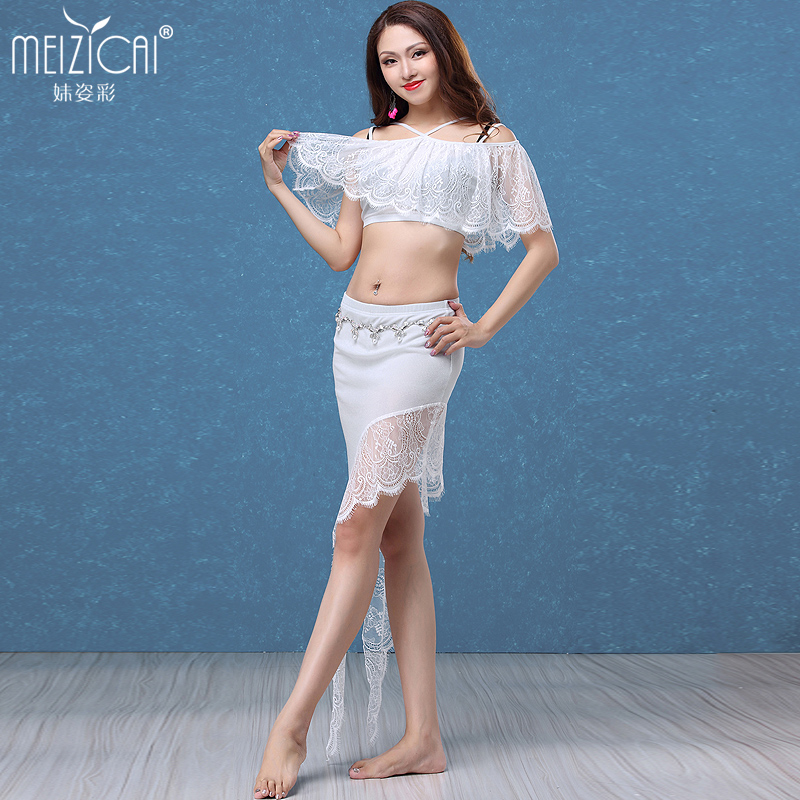 2018 Girls belly dance clothes set Women belly dancing clothes sexy top&skirt 2pcs suits S1064+Q3132