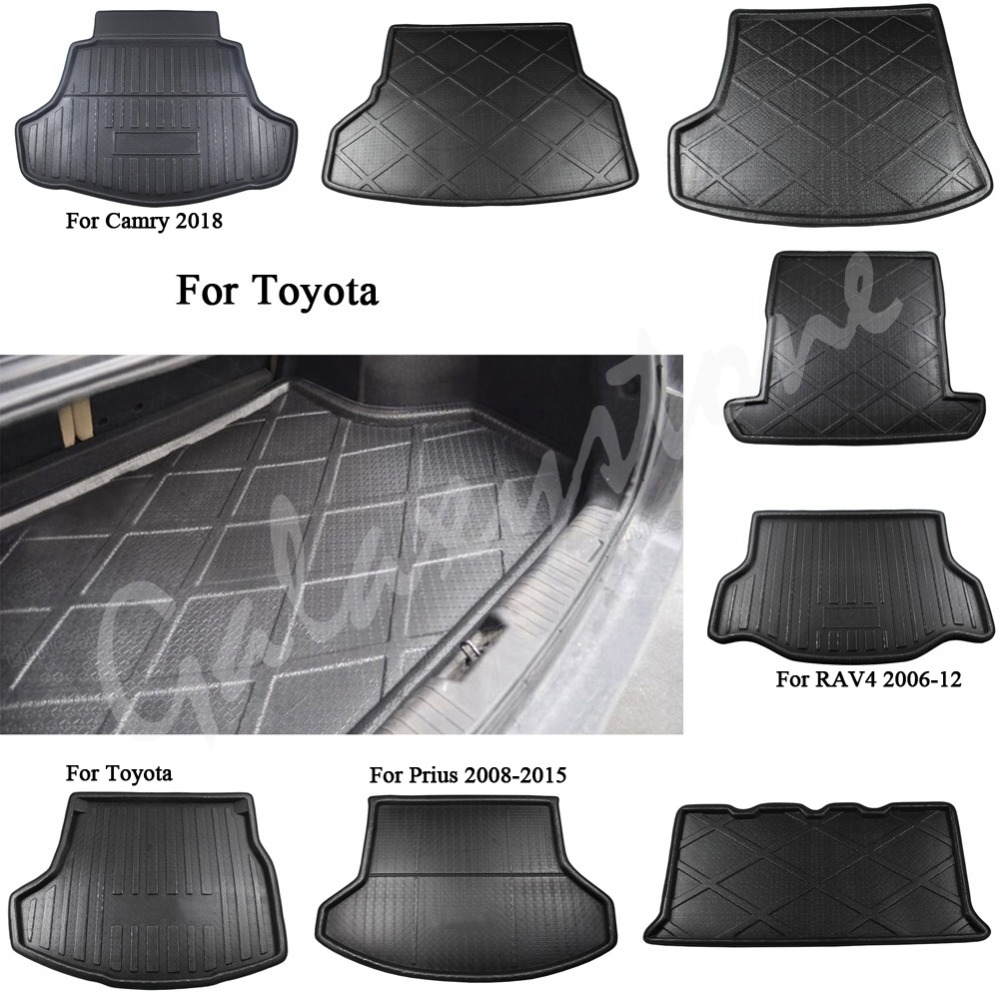 Rear Trunk Boot Mat Liner Cargo Tray Floor Carpet Fit For Toyota Prado Prius Yaris Camry Corolla RX350 Highlander Land Cruiser led buried light recessed floor lamp outdoor waterproof underground light garden buried yard landscape inground lighting 85 265v