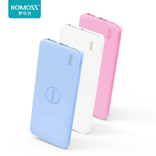 5000mAh External Li-Polymer Battery Bank Romoss PB05 Portable Mobile Power Bank Slim Mobile Phone Charger for Smartphone