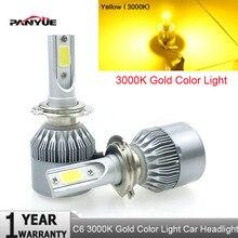 PANYUE фар H4 H7 светодиодный лампы H11 H1 H3 9006/HB4 9005/HB3 H13 светодиодный луковицы 72 Вт 7600lm фары автомобиля комплект противотуманных фар авто светодиодный светильник