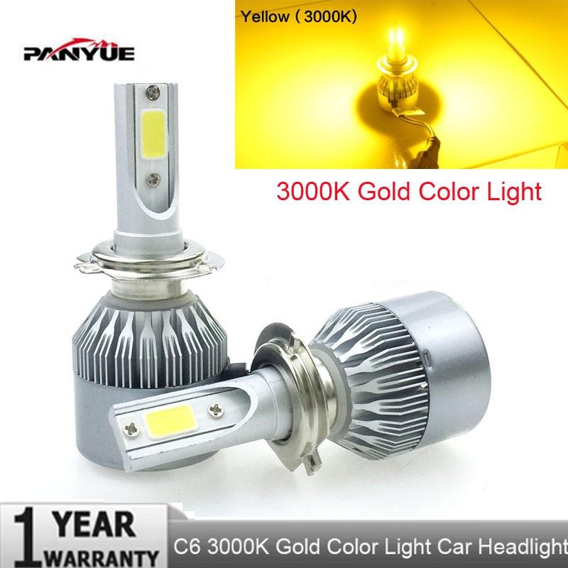 PANYUE Phare H4 H7 Ampoule LED H11 H1 H3 9006/HB4 9005/HB3 H13 LED ampoules 72 W 7600lm kit De Phares De Voiture Brouillard Lumière Auto Led Lampe