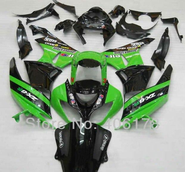 Hot Sales,Ninja ZX6R BodyWorks Fairing For Kawasaki Ninja ZX-6R 2009-2012 ZX6R ZX 6R Motorcycle Fairings (Injection molding)