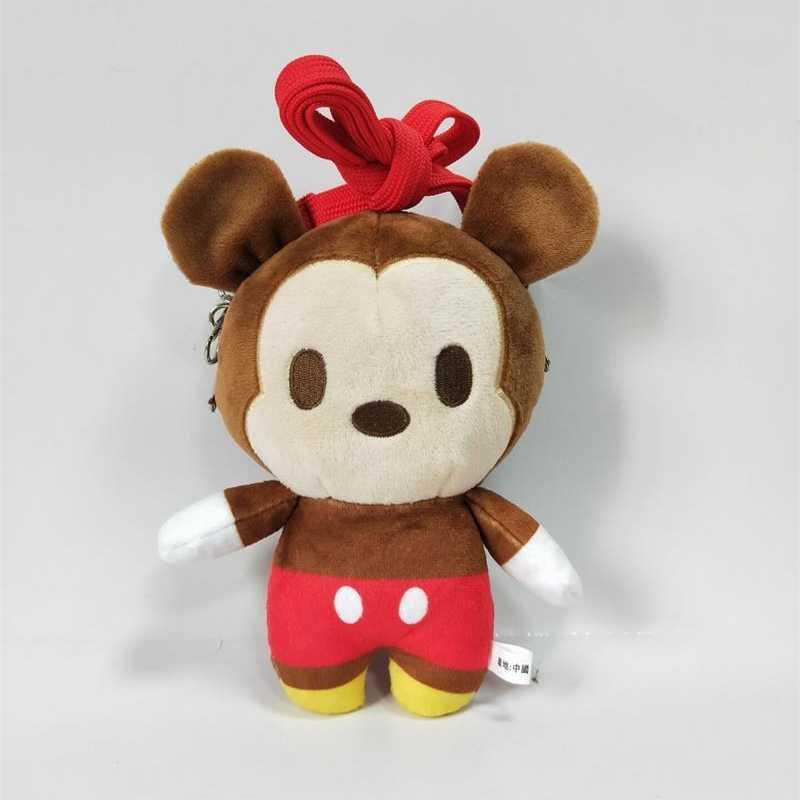 18 سنتيمتر غرزة الدب ألعاب من القطيفة أفخم ظهره Kawaii محشوة حقيبة الكتف محفظة نسائية للعملات المعدنية للفتيات والاطفال