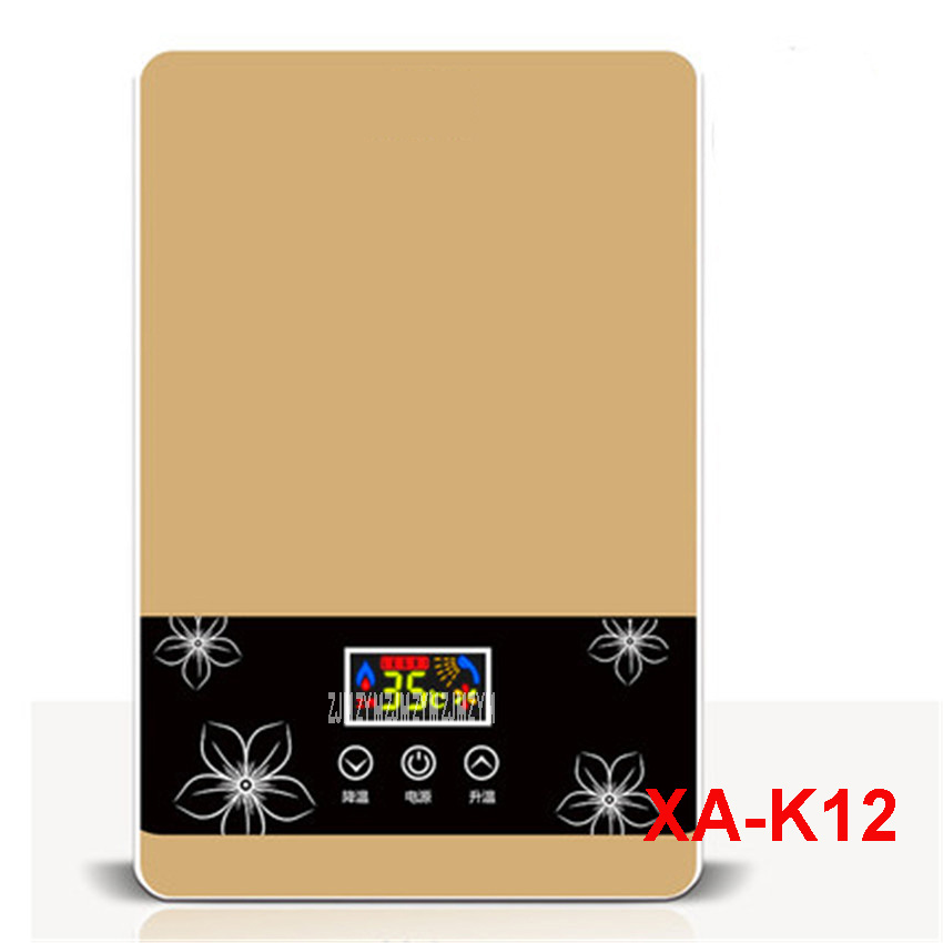 цена на XA-K12 220 V /50 Hz Immediate Electric Shower Speed Hot Shower Bath Induction Heater Electric Heater Water Heater Warm Water