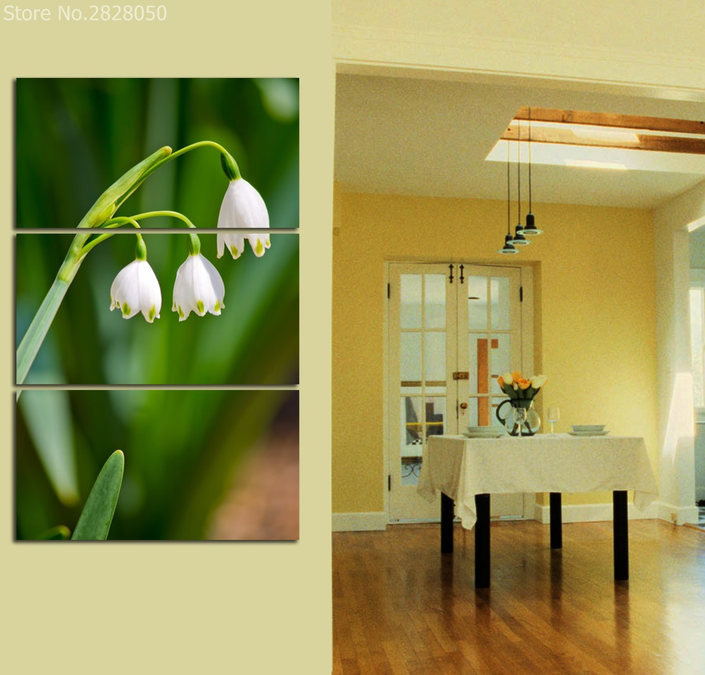 Lily Of The Valley Cute Flower Unframed Painting Canvas Wall Art HD ...