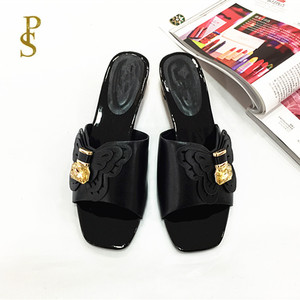 Image 3 - African style shoes for women mama slippers Low heel shoes