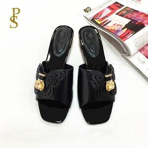 Image 3 - Sapatos de estilo africano para mulher mama chinelos sapatos de salto baixo