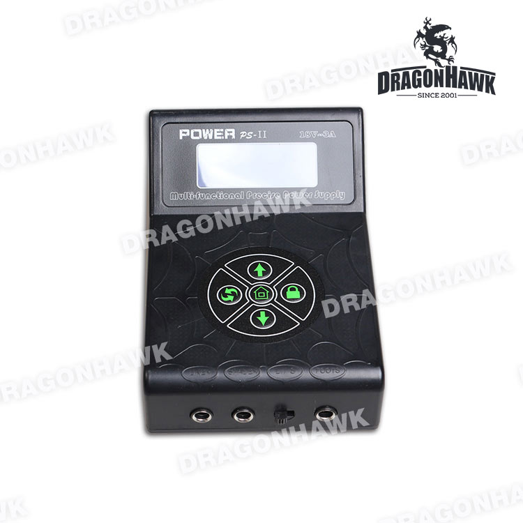 New Arrivate Tattoo Power Box Dragonhawk LCD Dual Tattoo Machine Gun Supply