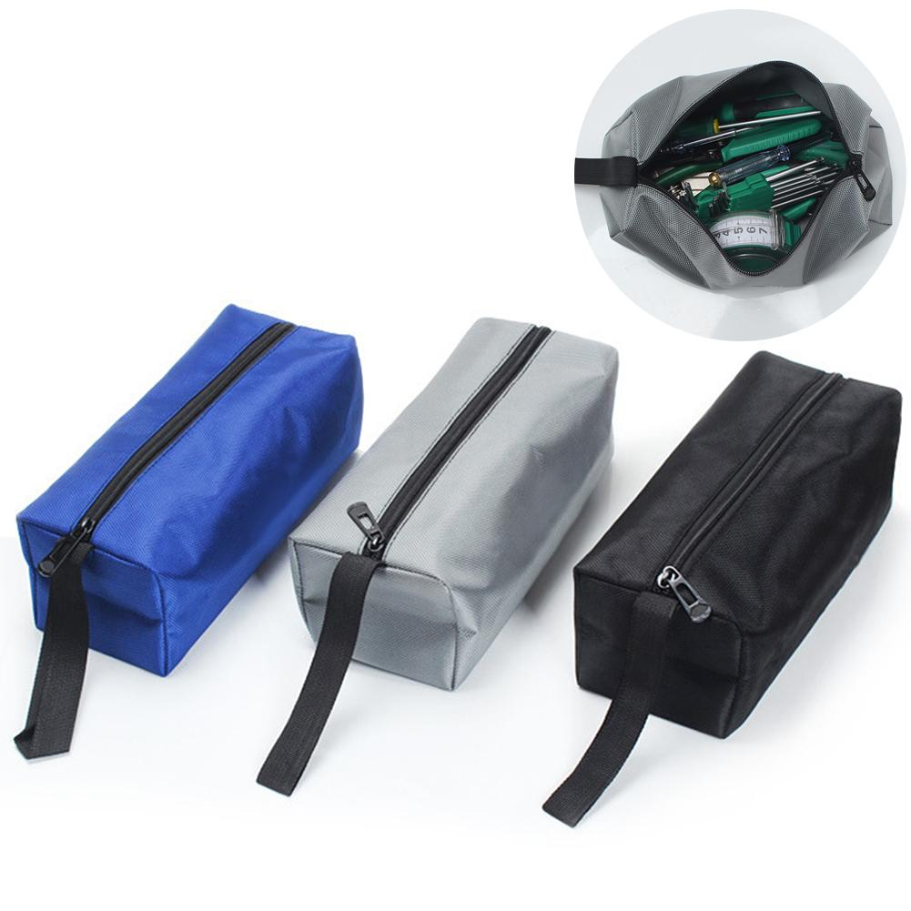 Oxford Canvas Waterproof Storage Hand Tools Bag Screws Nails Travel Makeup Organizer Pouch Case