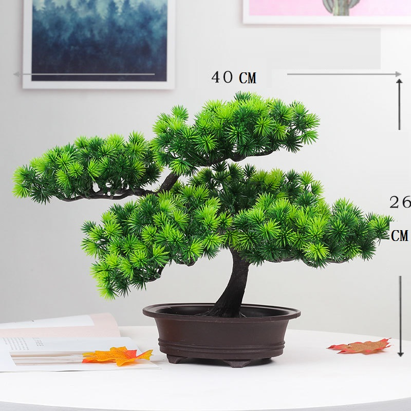 Artificial Large Bonsai Welcome Pine Bonsai Tree In Pot Artificial Plant Fake Plastic Bonsai Decoration For Office And Home Artificial Plants Aliexpress