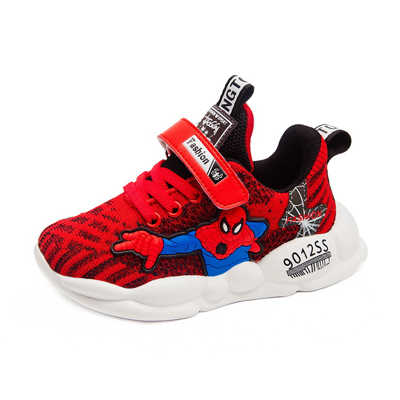 Tennis Shoes Kids Red Spider Man Shoes Children Boys Knitting Sock Sneakers Fashion Cartoon Girl Children Shoes For Teenagers