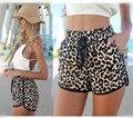 2016 Новый Горячий Продажа Женщины Leopard Sexy Новая Мини-Брюки высокая талия шорты Пляж Мода Шорты S, M, L XL
