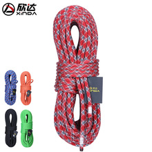 XINDA Climbing 12M 24KN Camping Climbing Rope 10-11mm diameter High Strength Climbing Safety Rope Survival Equipment Aerial