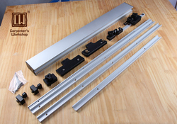Warsztat stolarski  system szyn ogrodzeniowych i prowadzących do grawerowania  piła tarczowa saw fence table sawtable table -