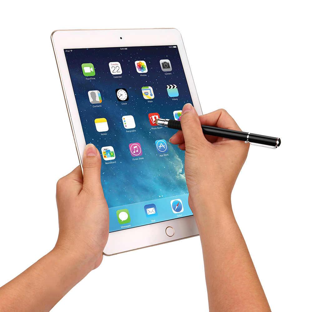2017 Nuevo estilo 2IN1 de alta precisión capacitiva Universal de pantalla táctil Stylus Pen para Samsung Touch pen para caneta móvil