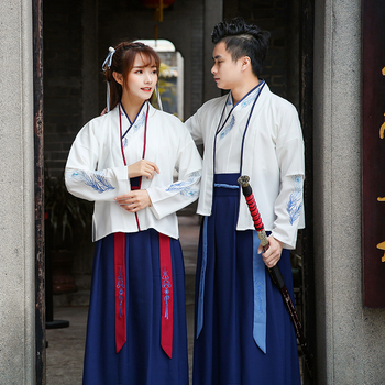Traditional Ancient Chinese Costume Women Men Performance Outfit Tang Dynasty Swordsman Folk Suit Cosplay Halloween Party Hanfu hanbok tang chinese ancient traditional hanfu women fusion modern dynasty consum costume dress