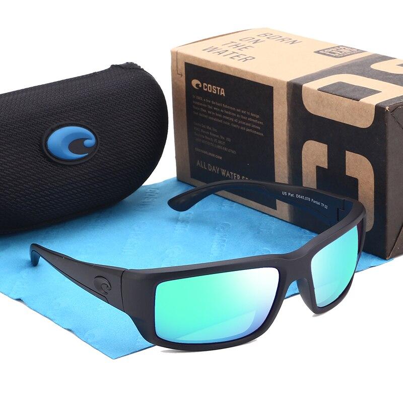 Brand New Polarized Sunglasses Men Driving Eyewear Coating Black Sport Sunglasses Male Sun Glasses Square Sunglasses UV400 costa jose matte black