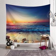Sea Beach Tapestry Wall Hanging Picnic Bedsheet Blanket Beach Towel Picnic Throw Rug Blanket Camping Tent Livingroom Home Decor недорго, оригинальная цена