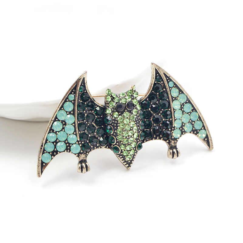 CINDY XIANG 2018 Halloween Strass Pins Broches Para As Mulheres Moda Animal Do Vintage Para O Homem Morcego Decote Festa Acessórios Presente