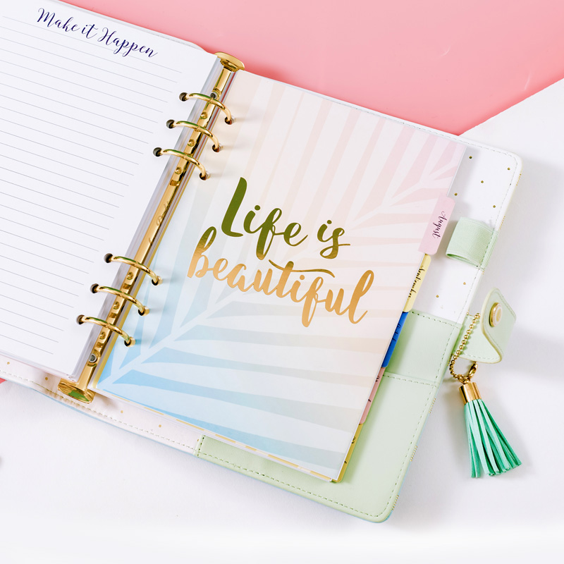 Dokibook Mid Summer Series Filler Papers For Filofax Spiral Notebook A5 A6 Weekly Plan Planner Inner Core Schedule Diary Refill