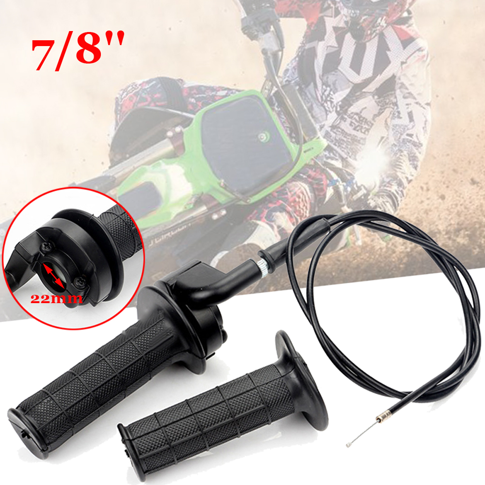 Image 5 - Hand Grips&Cable Set For ATV Quad Pit Dirt Bike 50 250cc Black Durable to use-in Car Stickers from Automobiles & Motorcycles